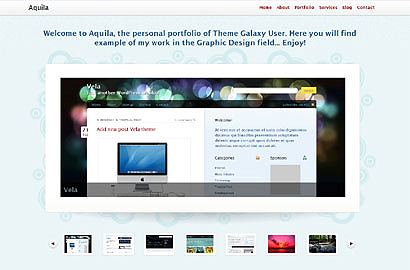 Тема для WorPress для портфолио. aquila-wordpress-theme
