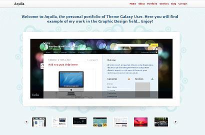 Тема для WorPress для портфолио. aquila-wordpress-theme