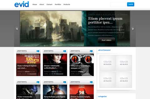 10 тем WordPress для сайта-портфолио evid-theme-wordpress