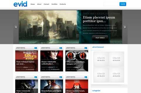 10 тем WordPress для сайта-портфолио evid-theme-wordpress