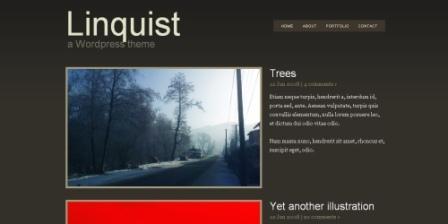 lnquist WordPress тема для сайта-портфолио