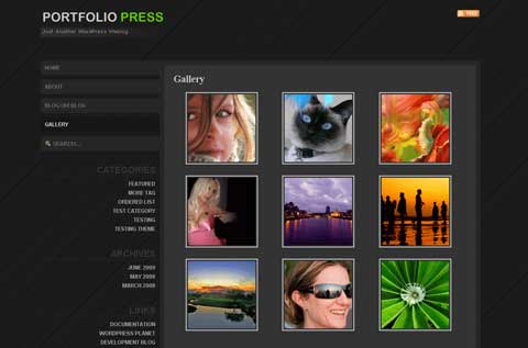 portfolio press wordpress тема