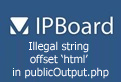 PHP Warning: Illegal string offset 'html' in publicOutput.php
