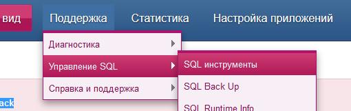 Поддержка Управление SQL  инструменты