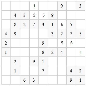 Генератор судоку на JavaScript (6 строк) пример